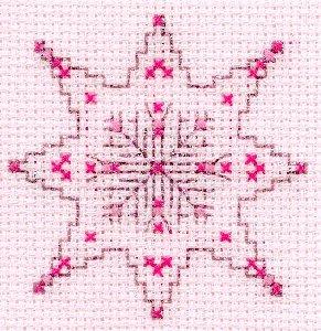 Voeux-Flocon rose